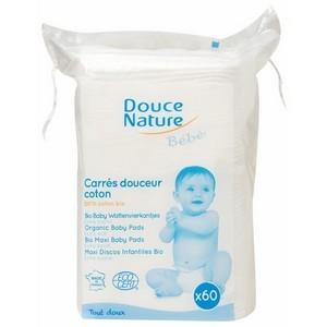 Douce nature 60 carrés de soins bébé coton bio