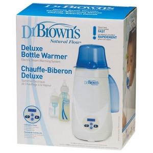 Dr Brown's Chauffe-biberon de luxe Natural Flow Bleu-blanc