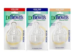 Dr Brown's 3 Tétines en Silicone ( choix de débits )