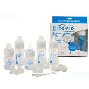 Dr Brown's pack nouveau né large goulot sans Bpa