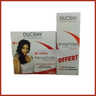 Offre Ducray Neoptide Lotion Antichute femme 3 flacons de (30ml)+ Ducray Anaphase Sampooing-crème 200ml Offert