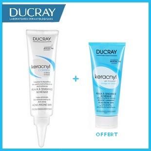 Offre Ducray Keracnyl Control Crème 30ml + Ducray Keracnyl Gel Moussant 40ml Offert