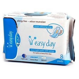 Easy day Flux abondant 8 serviettes Nuit 280mm