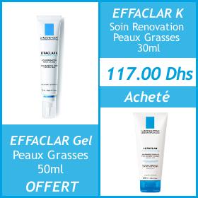 Offre La Roche-Posay Effaclar K + Effaclar gel OFFERT