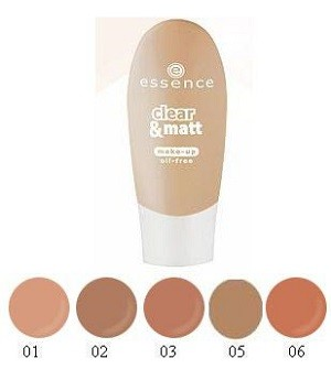 Essence clear&matt oil free make-up 30ml fond de teint matifiant,hydratant N06 Naturel beige