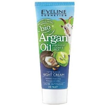 Eveline crème de nuit intensive a l'huile bio Argane + Huile de pépins de raisin + Lait de chevre