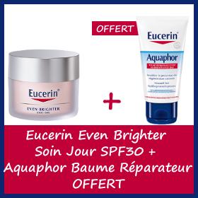 Offre Eucerin Even Brighter Jour + Aquaphor Baume Réparateur Cutané OFFERT