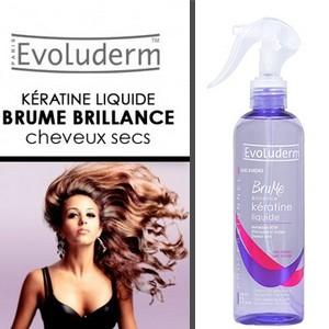 Evoluderm brume brillance kératine liquide sans rinçage 300 ml
