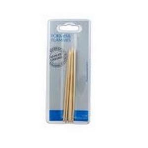Formes et Flammes Repousse-peaux, bâtonnets manucure, pequia amarello/ réf 67