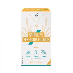 Yves Ponroy Spiruline Fer & Acides Folique - Vitalité 30 Gélules