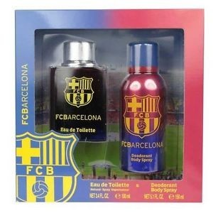 Air-Val COFFRET Parfum FC BARCELONA Eau de Toilette 100ml + Deodorant Body Spray 150ml Réf : 5466