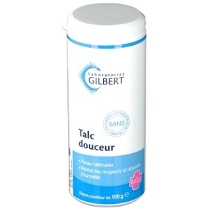 Gilbert Talc douceur, flacon poudreur 100g