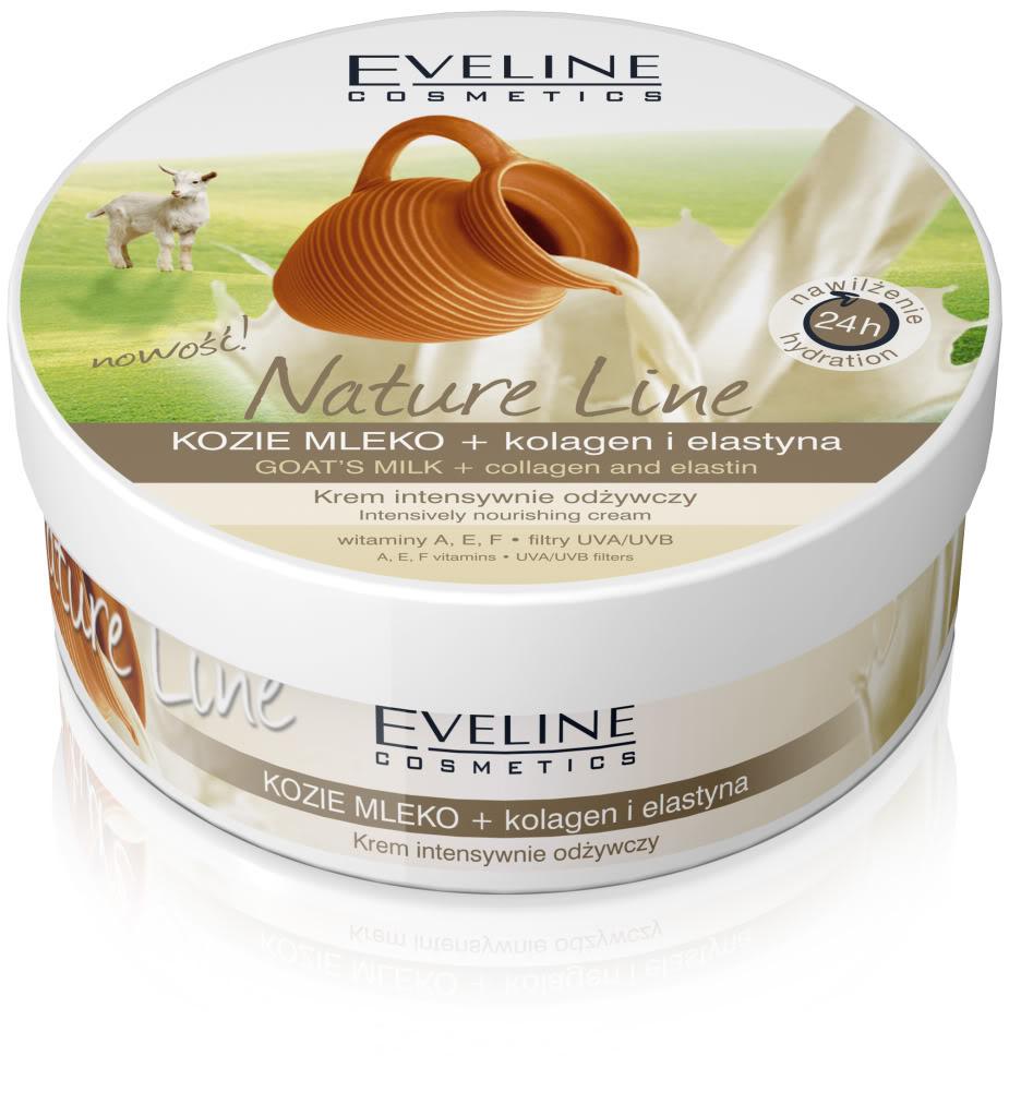 Eveline Nature Line Crème, au Lait de Chèvre, Collagène, et Elastine 210ml