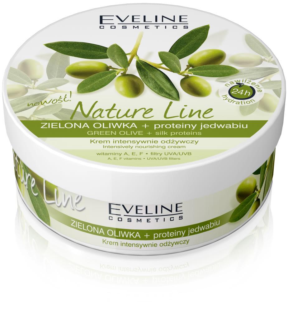 Eveline Nature Line Crème aux Olives Vertes, Visage et Corps 210ml