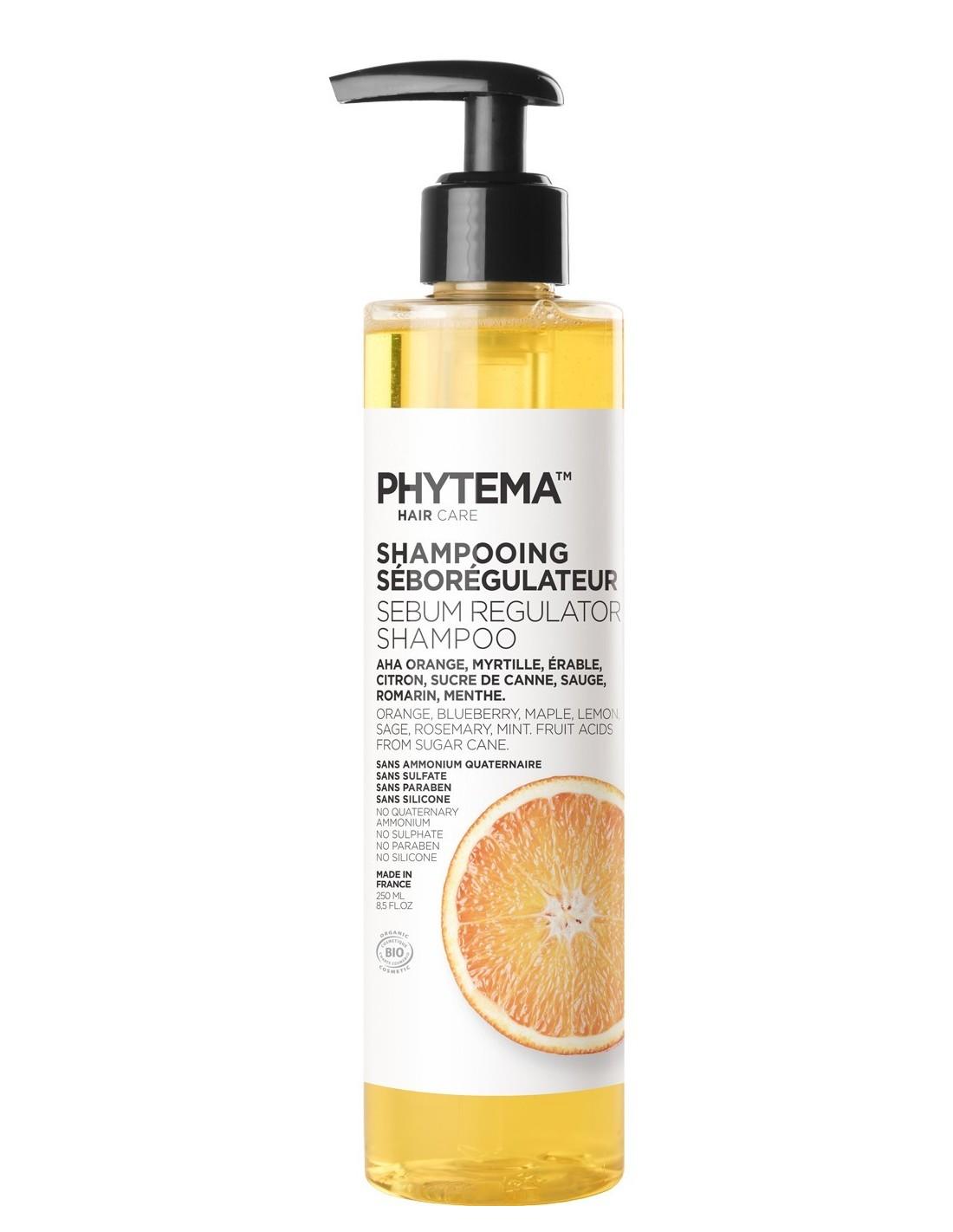 Phytema Shampoing Seborégulateur Cheveux Gras 250 ML 3760054010055