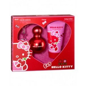 Air-Val Hello Kitty Set Eau de Toilette Red 100ml + Body Lotion + Charme Réf : 5484