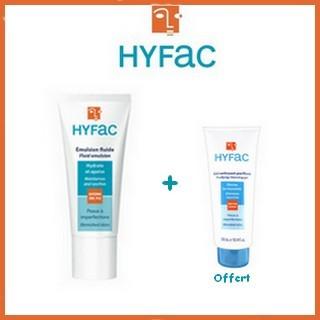 Offre Hyfac Emulsion Fluide 40ml + Hyfac Gel Nettoyant Purifiant 40ml Offert