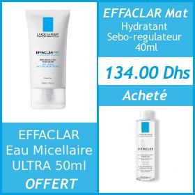 Offre La Roche-Posay Effaclar Mat 40ml + Effaclar Eau micellaire Ultra 50ml OFFERT