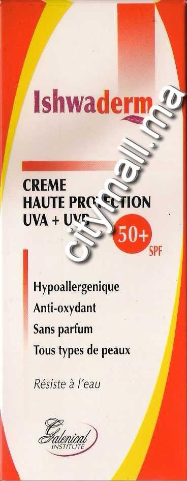 Ishwaderm crème haute protection SPF50+