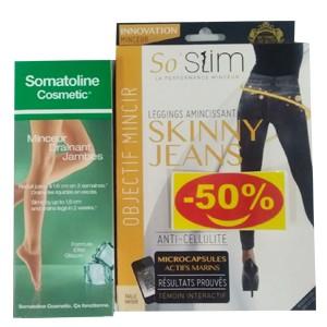 SOMATOLINE DRAINANT JAMBE + SO SLIM JEANS - 50%