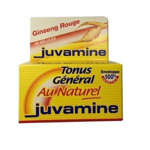 Juvamine Tonus général Au naturel ginseng rouge envelope 100% végétale 45 gélules