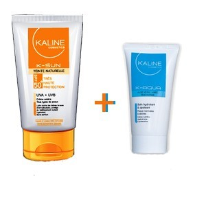 Offre Kaline Ecran solaire bonne mine (spf50+) 50 ml + Kaline soin hydratant (50 ml) offert