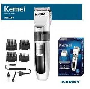 Tondeuse sans fil rechargeable, Kemei km-27F lame en titane pour cheveux et barbe