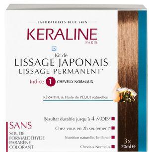 Kéraline kit de lissage japonais Indice 1 Cheveux Normaux