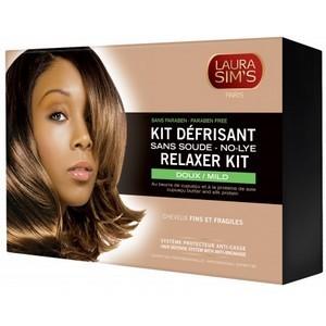 LAURA SIM'S Kit défrisant doux 405 ml - cheveux fins et fragiles