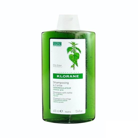 Klorane Shampooing Traitant Séborégulateur à l'Extrait d'Ortie (400 ml)