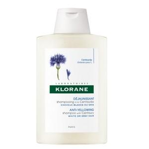 Klorane Centaurée Shampooing Reflets Nuance Argentée cheveux blanc ou gris (200 ml)