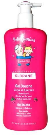Klorane Petit Junior Gel Douche Corps et Cheveux (3+ ans) Parfum Framboise 500 ml
