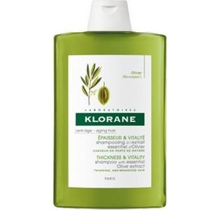 Klorane Shampoing à l'Extrait Essentiel d'Olivier Epaisseur et vitalité 400 ml