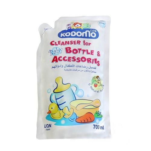 Kodomo Recharge Liquide Nettoyage Biberons en sachet pour Sucettes et Accessoires Bébé 700ml