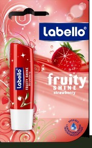 Labello Soin des lèvres fruity shine strawberry parfum fraise fps10 4.8g