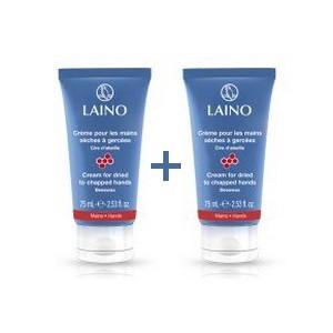 Offre LAINO Crème pour les mains sèches à gercées cire d'abeille 2x75ml