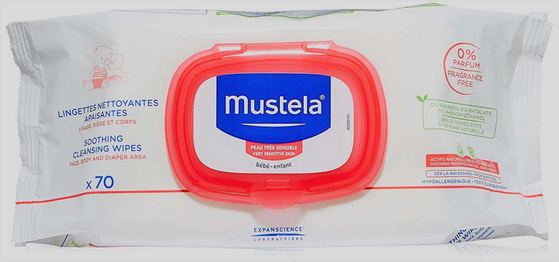 Mustela Lingettes Nettoyantes apaisantes Visage,Mains et Siège 70 Unités