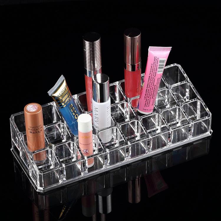 LIPSTICK SHELF Boîte De Rangement pour maquillage 24 cases