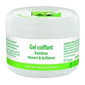 Logona Gel coiffant bambou ressort et brillance tous types de cheveux 50ml