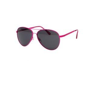 Parallèle Lunettes solaires Rose-fluo Fumé-uni pour femmes/ réf 34035
