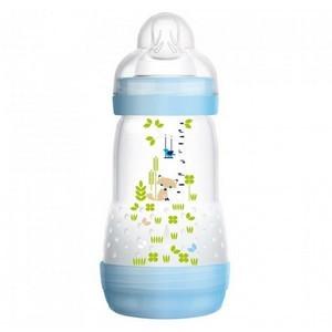 MAM Easy Start anti-colique fonction autostérilisante couleur bleu 2+M Débit Moyen 260ml