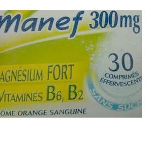 Manef magnésium fort 300 mg + vit B6,B2 30 comprimés
