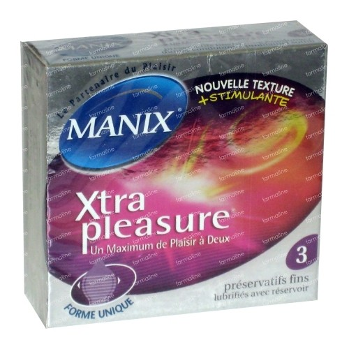 Manix Xtra Pleasure Préservatifs | 3 pièces