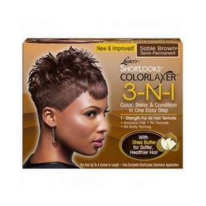 LUSTER'S SHORTLOOKS Colorlaxer et revitalisant semi-permanent 3-N1 Marron
