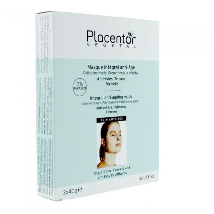 Placentor Végétal Masque Intégral Anti-âge 3 Masque Unitaires (3x40g)