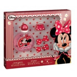 Air-Val Minnie Mousse Set Eau de Toilette 100ml + LipGloss + 2 Clips Réf : 5528