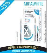Mirawhite oxygen stylo blanchissant pour dents sensibles