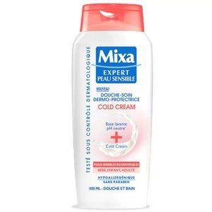 Mixa Douche Soin Dermo-Protectrice Cold Cream - Peau sensible 400ml - Réf : 3600550608038