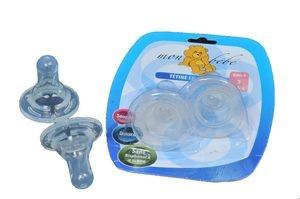 Mon bebe lot de 2 tetines en silicone souples sans BPA, 3m+