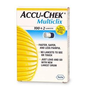 Lancettes Accu-chek Multiclix 100 Unités
